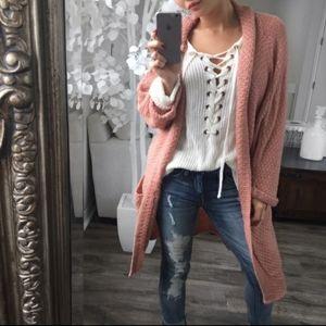 💞Reposh Ekattire Drop Shoulder knit Cardigan